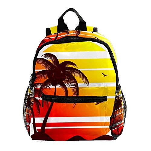 Daypack Gansos de Coco Retro Mochila para Niños 3-8 Años Mochila Infantiles Bolsas Escolares de Niños Niñas 25.4x10x30 CM
