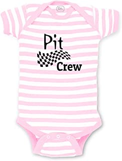 Pit Crew Short Sleeve Boys-Girls Cotton Baby Bodysuit One Piece