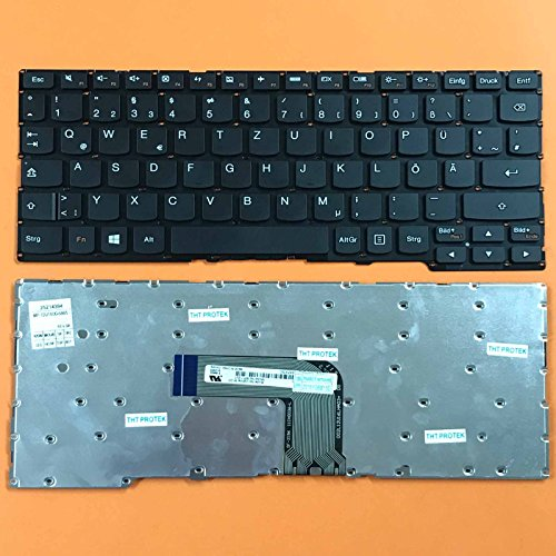kompatibel für Lenovo IdeaPad Yoga 2 11 Tastatur - Farbe: schwarz - ohne Rahmen - Deutsches Tastaturlayout