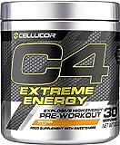 C4 Extreme Energy - Pre-Workout-Booster Orange - Zuckerfreies GetränkeBooster für Energy Drink - 300 mg Koffein + Beta-Alanin + Kreatin-Monohydrat - 30 Portionen