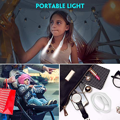 Jhua[2020最新版]ledネックライトブックライト首掛け式ライトusb式ハンズフリー夜読書灯夜間散歩用緊急状況用夜間ジョギングアウトドアランプ用3レベル輝度調整自由曲げ大容量1000mAh