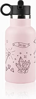 Loss proof_ QR enabled_Stainless Steel Kids Water Bottle with Straw_Unicorn_Little Big Water Bottle DINO- 350ml-
