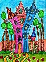 """子供のための5DDIYダイヤモンド塗装キットフルドリル 刺繡クロスステッチ、家の壁の装飾のためのクラフトギフトが含まれています 漫画-12""""x16"""" B0852"""