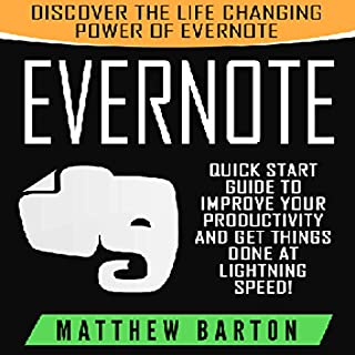Evernote: Discover the Life Changing Power of Evernote audiobook cover art