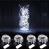 ILOVEDIY Lot de 4 Guirlande Lumineuse Pile 1M 10LED CR2032 Noel Interieur Exterieur...