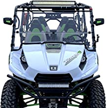 Kawasaki Teryx 4 Windshield ('12-'15)- Full Folding -SCRATCH RESISTANT- The Ultimate in Side By Side Versatility!Premium polycabonate w/Scratch Resistant Hard CoatMade in America!!