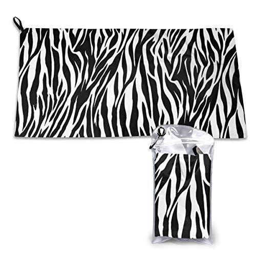LOPEZ KENT luipaard print sneldrogende handdoek 15.7'' X 31.5'' sneldrogend, met verpakkingstassen en bergingsgespen