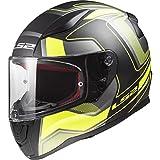 LS2 Helmets - FF353 Rapid – Carrera - Matt Black Hi-V Yellow - Single Visor Full Face Motorcycle...