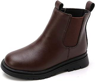 Ragazza Chelsea Boots Impermeabili Polacchine Bambine Antiscivolo Kid Stivali Invernali All'aperto Bassi Stivaletti 27-37