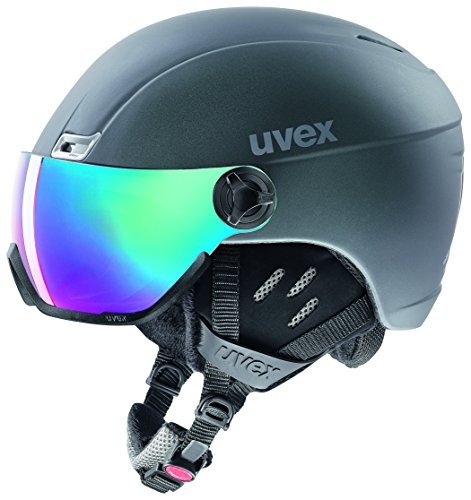 Uvex Unisex Erwachsene HLMT 400 Visor Style Skihelm, Titanium Mat, 58-61 cm
