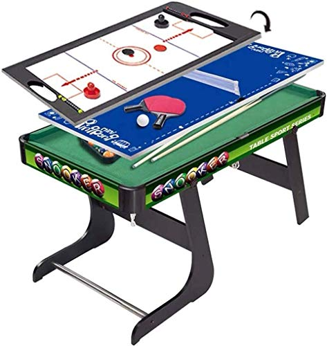 Piarner 3-in-1 Kinder Multifunktions-Billardtisch aus Holz Multifunktionale Combined Tischtennis Eishockey Billiardtisch Eltern-Kind-Interactive Entertainment Spielzeug-Set