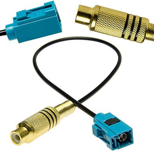 Adapter-Universe® Cinch Fakra - Cable adaptador de coche RCA cámara de respaldo para Mercedes Comand PCM 2.1 / PCM 3.0 / NTG2.5 / NTG4 & Ford Blaupunkt NX