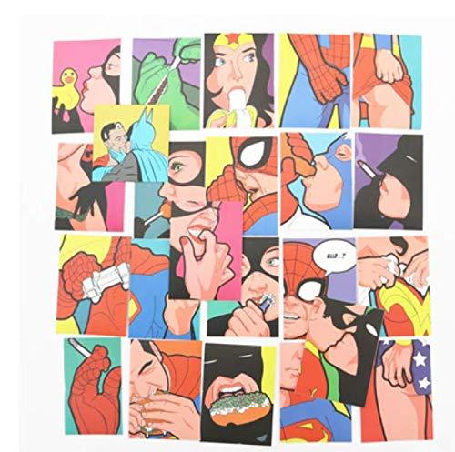 ZJJHX Superman Private Life Comics Pegatinas de Maleta de la Misma Persona Pegatinas de monopatín de Personalidad Impermeable Pegatinas de Cuaderno 24 Hojas