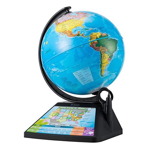 Oregon Scientific SG268R Smart Globe Adventure AR Educational World Geography Kids - Learning Toy (Black)
