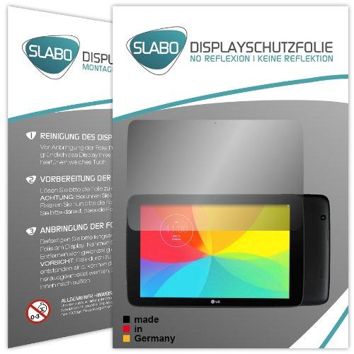 Slabo 2 x Bildschirmschutzfolie LG G Pad 10.1 Bildschirmschutz Schutzfolie Folie No Reflexion Keine Reflektion MATT-Entspiegelnd Made IN Germany