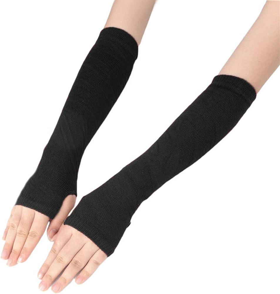 Tennessee526 Unisex Winter High material Warm Gloves mart Long Women Fingerless Men