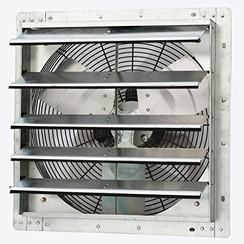 iLiving - 18' Wall Mounted Exhaust Fan - Automatic Shutter - Variable Speed - Vent Fan For Home...