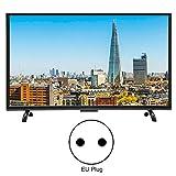 Kafuty 32 Pouces Grand écran TV incurvée 3000R courbure 4K HDR 1920x1200 HD HDMI Intelligent TV, Support Filaire et sans Fil(EU Plug)