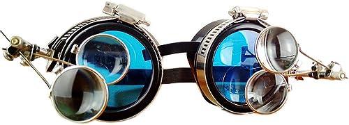 deportes calientes GY Gafas De Steampunk, Gafas Gafas Gafas De Retro Industrial, Original De Halloween Prom Bar Partido Accesorios De Fotografía De Cosplay, Producción De Artesanía Superior, negro  distribución global