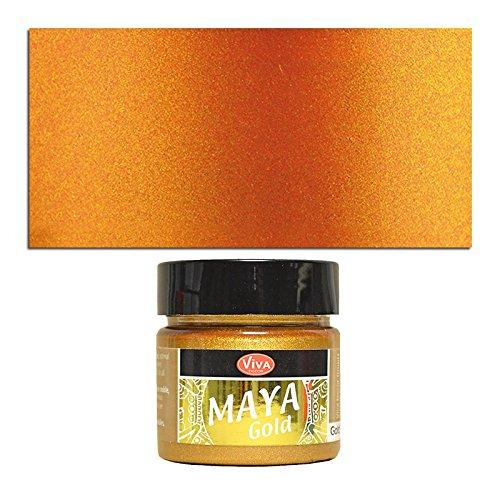 CREATIV DISCOUNT NEU Viva Decor Maya Gold 50 ml, Orange-Gold