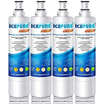 ICEPURE 4396508 Compatible with Whirlpool EDR5RXD1,4396510,4392857,EveryDrop Filter 5,PUR W10186668,Kenmore 46-9010 NLC240V,RWF0500A Refrigerator Water Filter Replacement 4PACK
