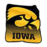 Logo Brands NCAA Iowa Hawkeyes Raschel Throw, One Size, Team Color