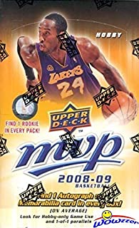 2008/09 Upper Deck MVP NBA Basketball MASSIVE Factory Sealed HOBBY Box with One AUTOGRAPH or MEMORABILIA Card! Look for Rookies & Autos of Russell Westbrook, Kevin Love, Derrick Rose & More! WOWZZER!