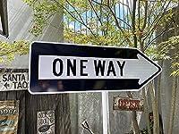 【262741】アメリカの道路標識を細部まで忠実に再現☆アメリカン・トラフィックサイン(ワンウェイ)/看板/インテリア/ガレージ雑貨/一方通行