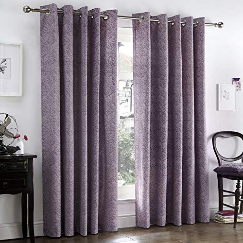 Dreams 'n' Drapes Hanworth Parure de lit réversible Motif Rayures/Feuilles Gris Anthracite Lit Simple, chiné, 66x72 (168 x 183 cm) Eyelet Curtains