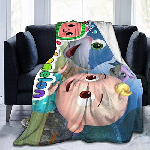 Tengyuntong Kuscheldecken Blanket Ultra-Soft Micro Fleece Coco-Melon Flannel 3D Printed Soft Warm Cozy Luxury Throw for Couch Or Bed Warm Living Room 50'X40'