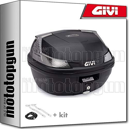 givi maleta b37nt + porta-equipaje compatible con aprilia shiver 900 2019 19 2020 20