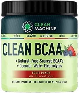 Clean Machine BCAA Fruit Punch Powder, 30Count