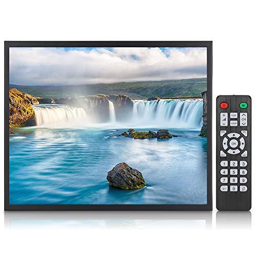 ASHATA 19 inch draagbare HDMI-monitor 1280 x 1024 contactloos 4: 3-metalen behuizing geïntegreerde VGA/HDMI/AV-monitor met afstandsbediening voor pc's, CCTV's, camcorders en computer, EU.