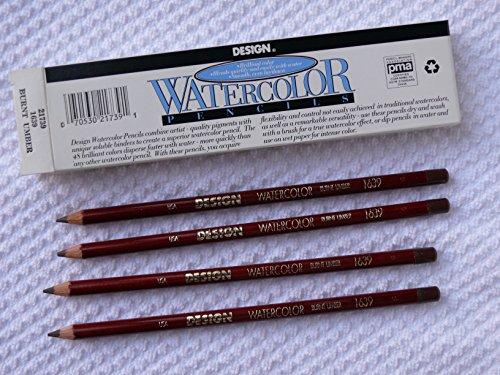 EF Eberhard Faber DESiGN Watercolor pencils - Burnt Umber 1639-12 Pencils - One Color