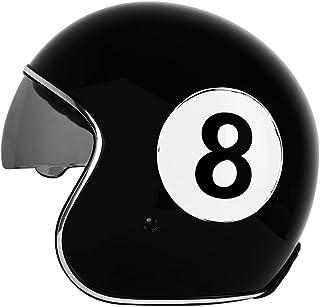 Comprar casco moto clásico bola 8 billar en oferta