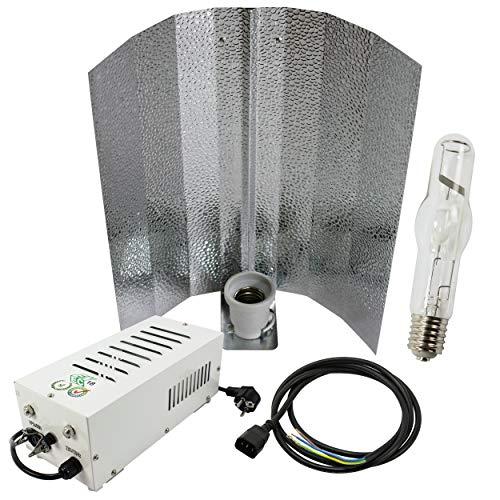 Cultivalley 400W Grow-Set, Profi Pflanzenbeleuchtung, Plug & Play Bausatz mit NDL Halogen-Metalldampflampe MH Wuchslicht, Pflanzenlicht Perfekt zur Kultivierung von Pflanzen mit Blüten & Früchten