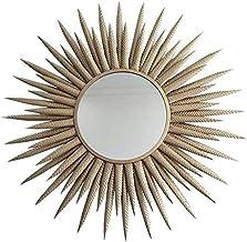 AI LI WEI Necessidades diárias moldura de ferro espelho decorativo redondo sol flor parede espelho para quarto de modelo d...