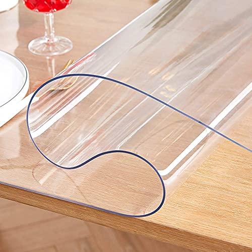 Accesorios para sala de estar Mantel de PVC de varios tamaños, resistente a las manchas, lavable, para mesa, antirrayas, para mesa, para mesa de comedor, mesa auxiliar, 1,5 mm de grosor, 70 x 70 cm