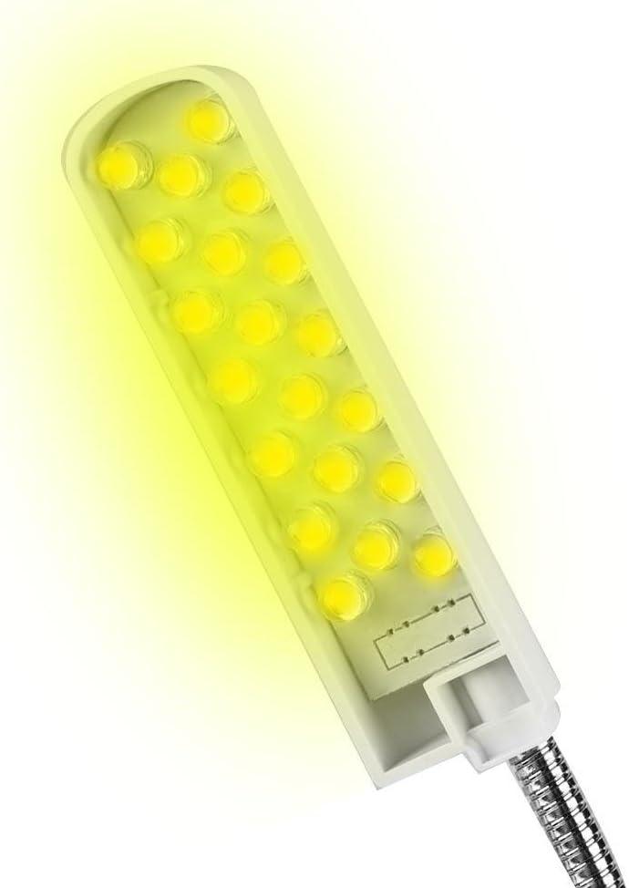 110V-250V N/ähmaschinenlicht flexible Schwanenhalsarm-Arbeitslampe mit Magnetfu/ß f/ür die Werkbank-Drehmaschine LED-Arbeitslicht N/ähmaschinenlampe Augenpflege 20LED