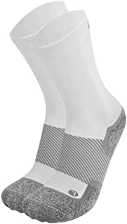 OrthoSleeve WC4 Wellness Socks for Diabetes,Edema,Neuropathy & Circulation (Crew, Small, White, 1 Pair)