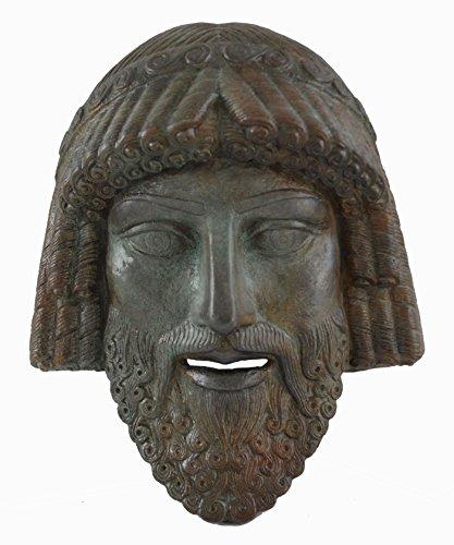 Zeus pequeña máscara con – color efecto de bronce