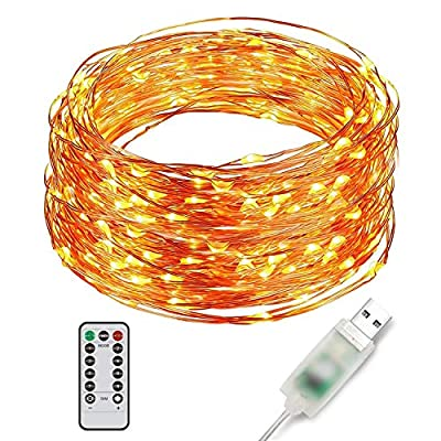 Ylife Fairy Light, 8 Modes String Lights Waterproof, String Lights, USB Interface Remote Control, Decorative Copper Wire Lights for Festival Party
