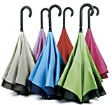 Por fin un paraguas que evita que nos mojemos al salir o al entrar del coche....