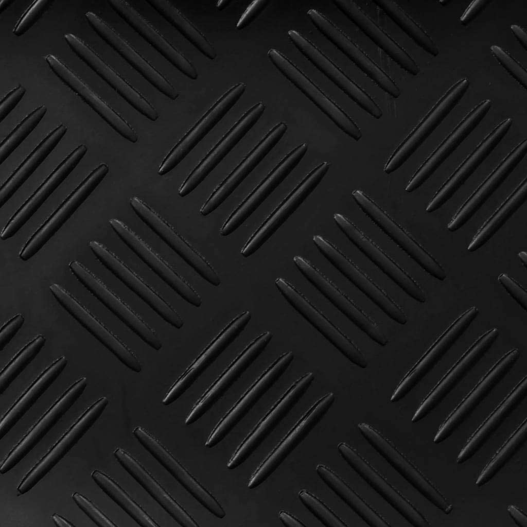 3/mm dick Boden Rolle Schwarz Medaille Gummi Garage Bodenbelag Matten | von 12/Gr/ö/ßen stabil Matte geeignet f/ür Fitnessstudio Spielplatz etc.