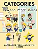 Categories - Pen and Paper Games: Categories Paper Game Refill Sheets. Be creative and faster than your rivals selecting names, professions, animal categories.