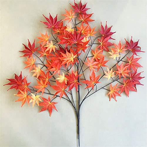 Konstgjorda dekorativa blommor simulering falska löv trädgårdsteknik material lönn löv rekvisita dekoration Xiangshan röd lönn löv död trä dekorativa grenar 120 cm konstgjorda blommor.
