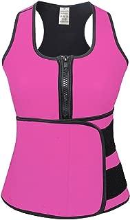 FeelinGirl Sweat Neoprene Sauna Suit Tank Top Vest with Adjustable Waist Trimmer Belt