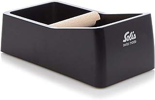 Solis Knock Box - Récipients à Marc de Café - Pour Porte-filtre à Espresso - Noir