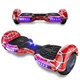 TPS Power Sports Hoverboard Self Balancing Scooter for Adults and Kids 300W Dual Motor 6.5' Wheels Bluetooth Speaker LED Lights Self Balance Hoverboards Great Gift UL2272 Certified (Red)