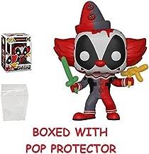 Funko Pop! Marvel #322: Clown Deadpool Vinyl Figure (Bundled with Box Protector CASE)